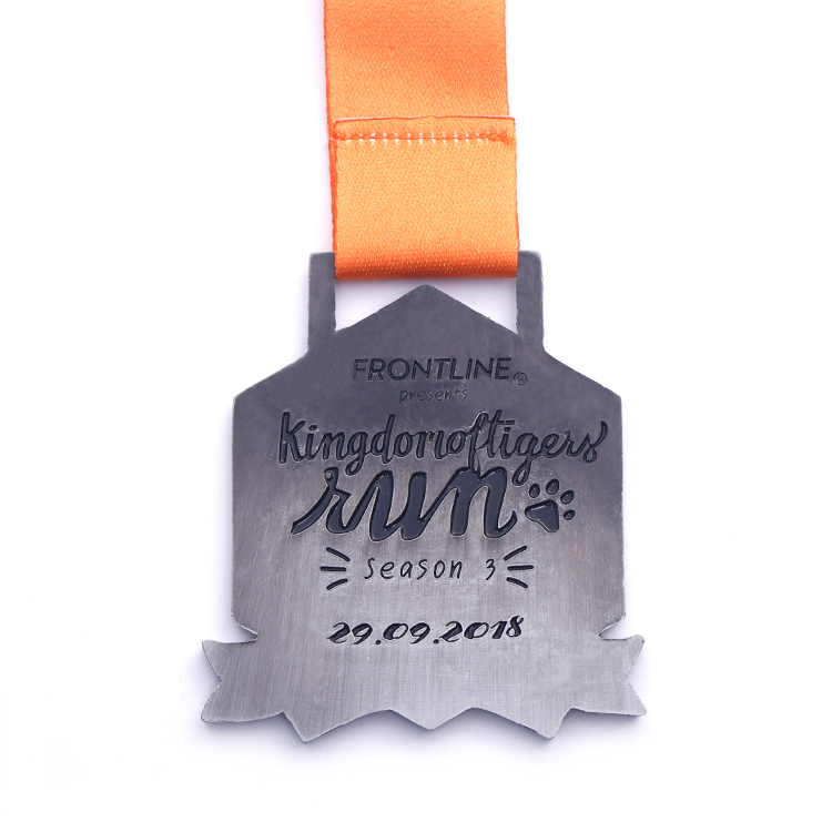 Custom Cute Enamel Cat Kids Bike Race Winner Lovely Medals