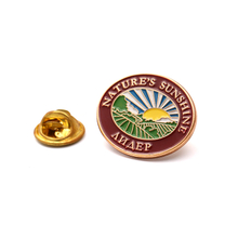 Soft Enamel Round Nature`s Sunshine Badge