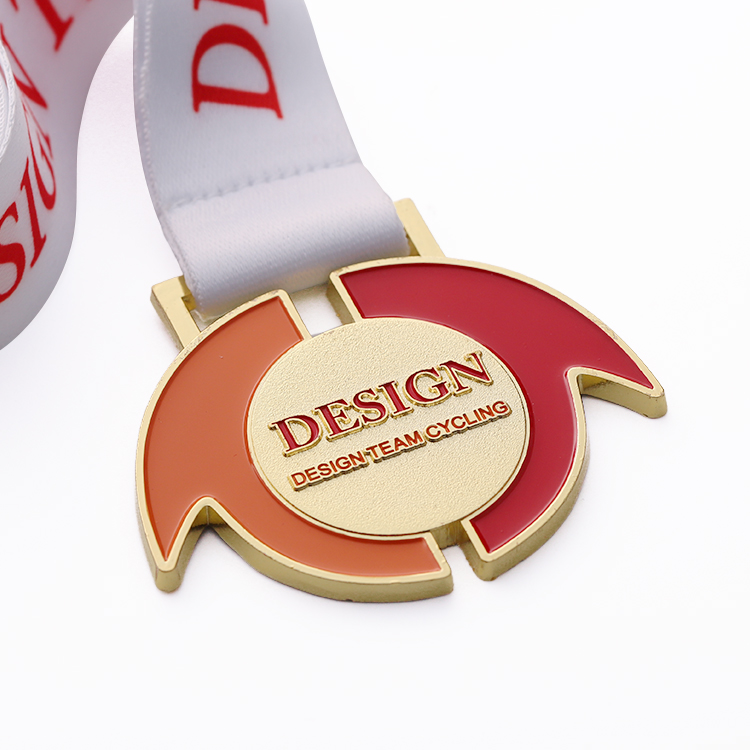 Custom Design Medallions Creative Zinc Alloy Medal with Enamel Color Challenge