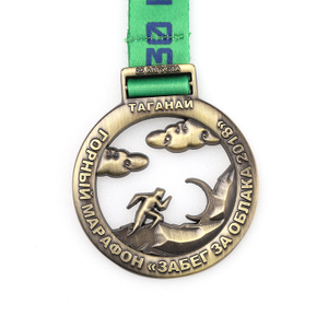 Bronze Gold Medals And Ribbons Gold Silver Medal Running Medallas Sports Customade Marathon Medal