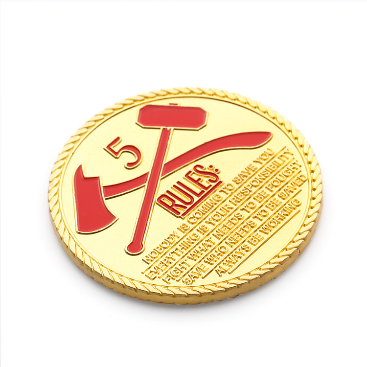 Custom Metal Coins of High Quality America 3d Gold Challenge Craft Blank Sublimation Coin
