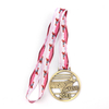 Custom Copper Military International Grappling Game Medal with Lanyard