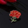 Gold Lady Flower Carnation Lapel Pin