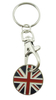 Uk Military Flag Zine Alloy Name Customised Pin Badges Key Chain Badge