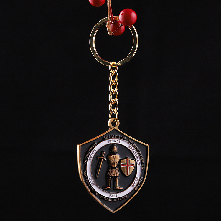 Low Price And High Quality Brass Black Key Ring Keyring Helmet