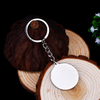 Customized Round Shape Paper Printing Keychain with Epoxy