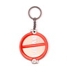 Round Shape Custom Zinc Alloy Soft Enamel Antique Copper Keychains