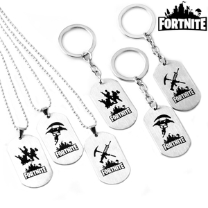 Custom Stainless Steel Metal Fortnite Dog Tag for Necklace