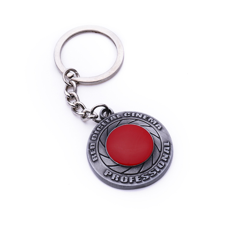 Blank for Empty Zine Alloy Name Emblem Key Chain Badge
