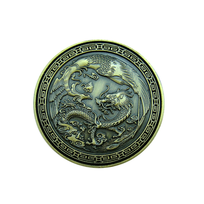 Chinese Dragon Challenge Coin Luck Souvenir Medallion Coins
