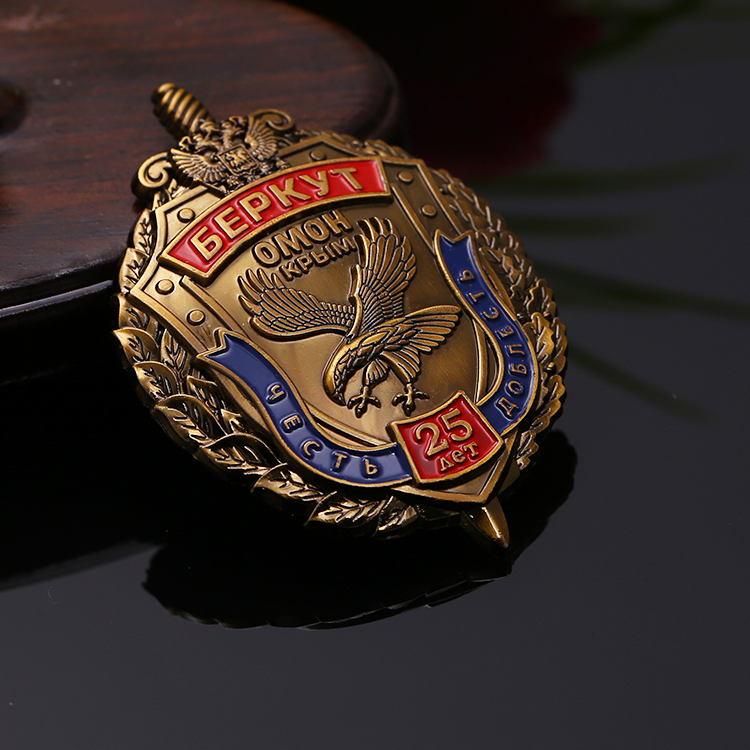 Russian Promotion Die Cast Eagle Wings Metal Military Badge Maker