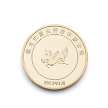 Metal Plate Craft Funny Custom Logo Souvenir Coins of High Quality Chinese Gold Silver Coin