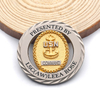 Custom Metal Two Color Sliver Gold Rotatable Usn Double Coin