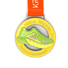 Customized Metal Sports Medal For for 5KM,10KM Running