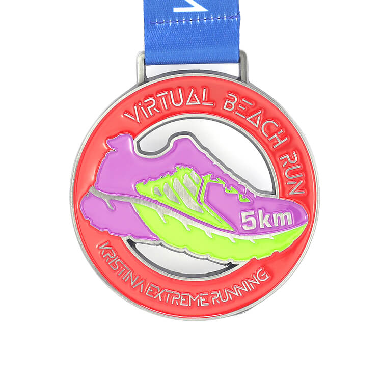 Running Customized Colorful 3D Plating Sport Metal Medal